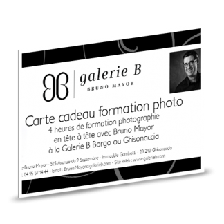 Carte cadeau formation photo