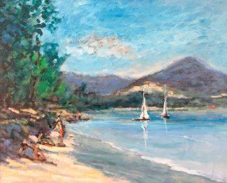 Plage de Palombaggia - peinture à l'huile par Joaquin Mayor